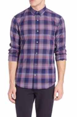 Yarn-Dye Poplin Check Melrose Sportshirt by Vince  in Pretty Little Liars
