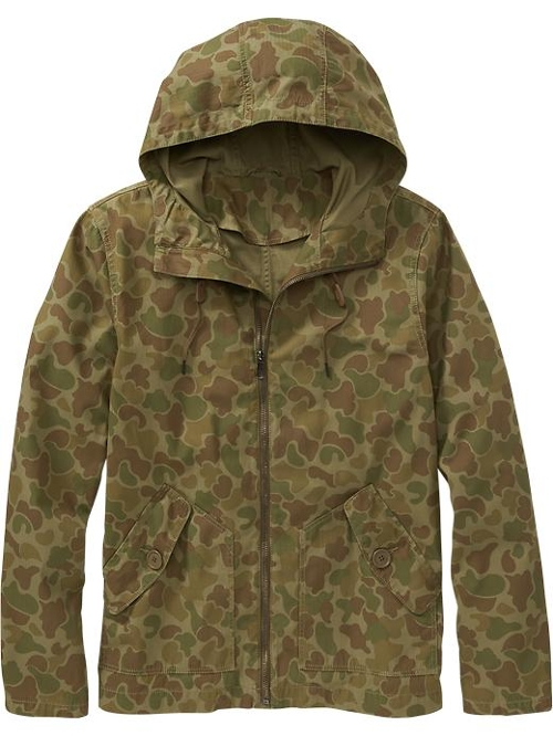 Men's Camo-Print Hooded Jackets by Old Navy in Fight Club