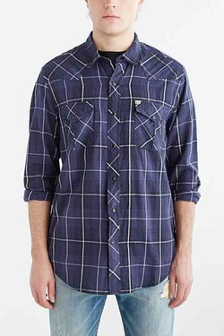 Salt Valley Western Plaid Button-Down Shirt by Urban Outfitters in The Big Bang Theory