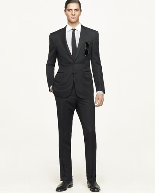 Black Label Anthony Solid Suit by Ralph Lauren in Vice
