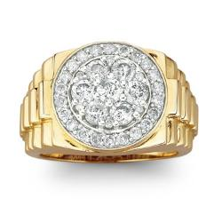 Men's Diamond Cluster Ring by JC Penney in Savages
