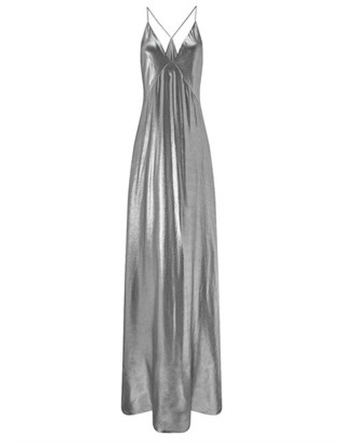Silver Spaghetti Strap Evening Dress by Galvan in American Horror Story - Season 5 Episode 7