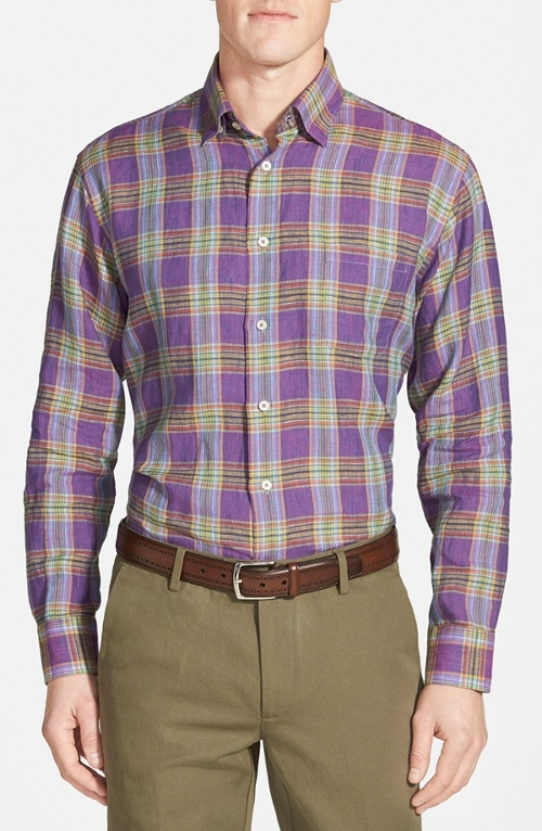 'Anderson' Classic Fit Plaid Sport Shirt by Robert Talbott in The Second Best Exotic Marigold Hotel