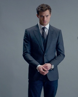 Custom Made Trim Fit Sport Coat by Mark Bridges (Costume Designer) in Fifty Shades of Grey