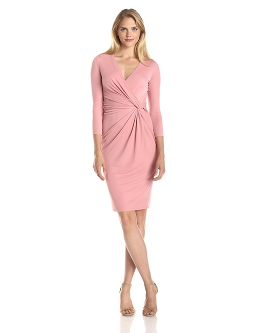 Women's Three-Quarter Sleeve Draped Dress by Anne Klein in Quantico