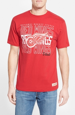 'Detroit Red Wings' Graphic T-Shirt by Mitchell & Ness in She's The Man
