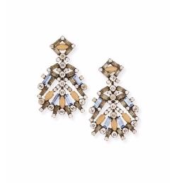 Bavaria Crystal Statement Earrings by Dannijo in Scream Queens