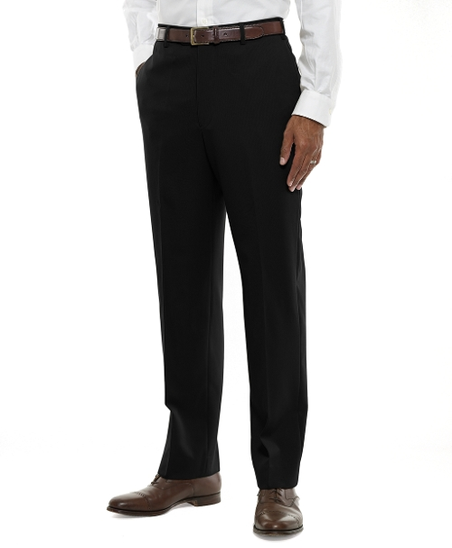 Plain-Front Classic Gabardine Trousers by Brooks Brothers in Entourage