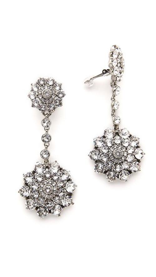 Classic Jeweled Drop Earrings by Oscar De La Renta in American Horror Story - Season 5 Episode 6