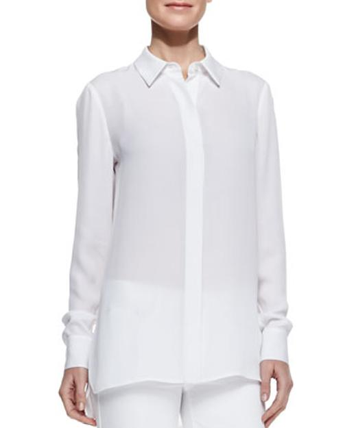 Georgette Button-Down Blouse by Vince in And So It Goes