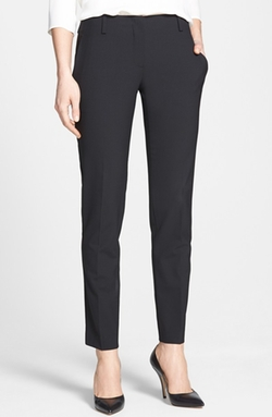 Ines Crop Stretch Wool Trousers by Theory in Little Fockers