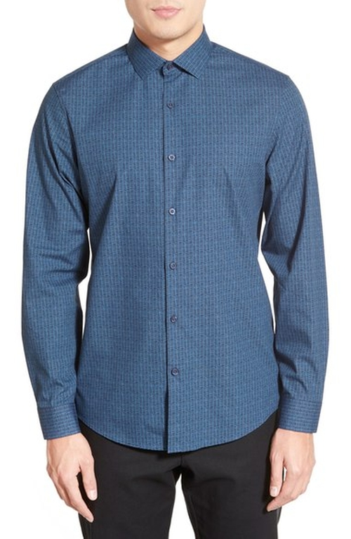 Trim Fit Print Sport Shirt by Calibrate in Silicon Valley - Season 3 Episode 8