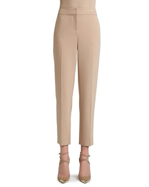 Crepe Marocain Cropped Emma Pants with Pockets by St. John Collection in Crazy, Stupid, Love.