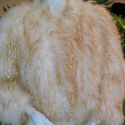 Tinsel Razzle Dazzle Marabou Feather Cropped Jacket by Vintage in Scream Queens