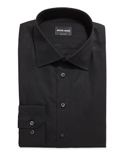 Solid Poplin Dress Shirt by Giorgio Armani	 in John Wick