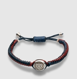 Woven Leather Bracelet with Gucci Crest by Gucci in Jurassic World