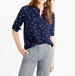 Silk Popover Shirt by J. Crew in Gilmore Girls: A Year in the Life