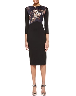 3/4-Sleeve Dress with Jersey Bodice by Jason Wu in Suits