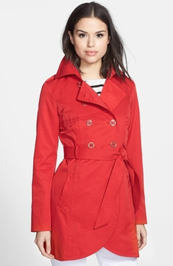 Cutaway Front Trench Coat by Guess in The Mindy Project