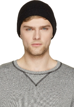 Ribbed Knit French Beanie Hat by AMI Alexandre Mattiussi in Ant-Man