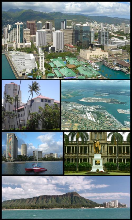 Honolulu,  Oahu Hawaii, USA in Godzilla