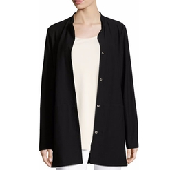 Washable Crepe Long Jacket by Eileen Fisher in American Horror Story
