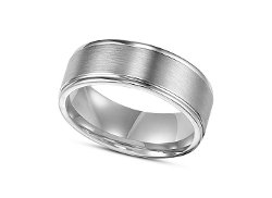 Men's Sterling Silver Engraved Wedding Band by Macy's in Unfinished Business