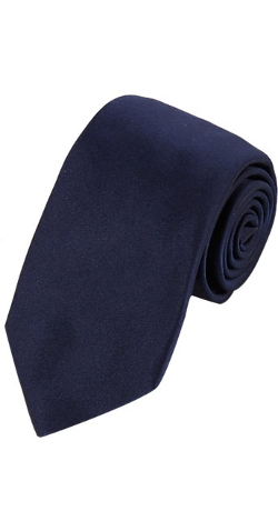 Solid Satin Neck Tie by Barneys New York in Spy