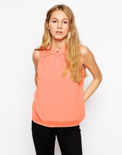 Lace Sleeveless Blouse by Only in Cut Bank