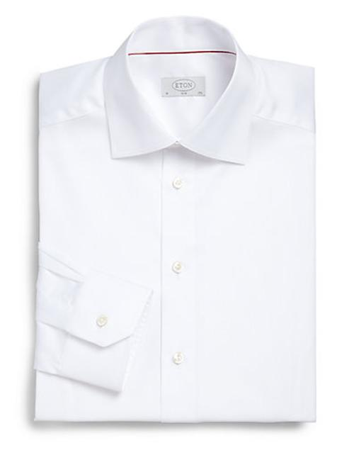 Slim-Fit Solid Twill Dress Shirt by Eton of Sweden in Yves Saint Laurent
