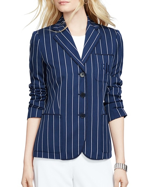 Striped Blazer by Lauren Ralph Lauren in Mistresses - Season 4 Episode 1