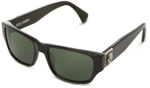 Solid Sunset Polarized Wayfarer Sunglasses by King Baby Sunglasses in The Gambler