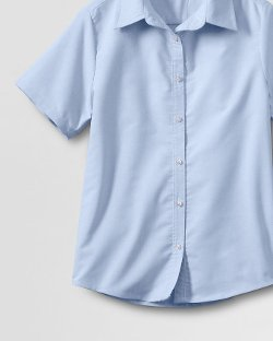 Women's Short Sleeve Oxford Shirt by Lands' End in McFarland, USA