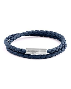 Men's Braided Leather Double-Wrap Bracelet by Tateossian in Riverdale