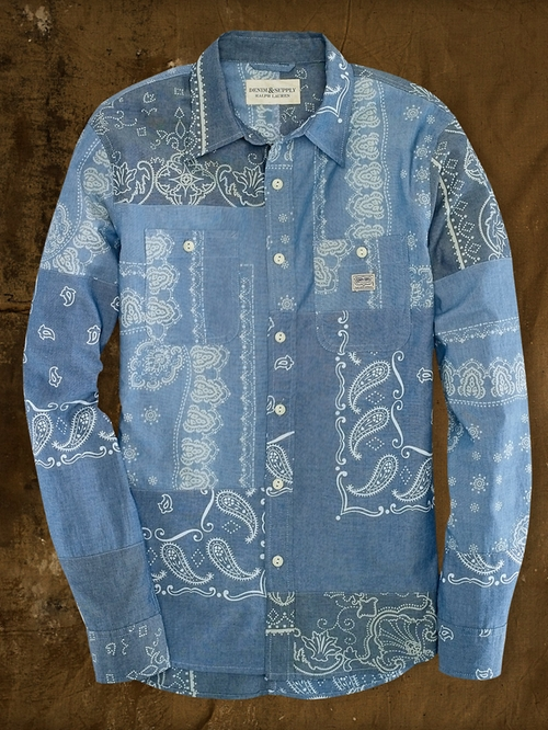 Bandanna-Print Sport Shirt by Ralph Lauren in Savages