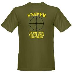 Sniper T-Shirt by CafePress in Ride Along