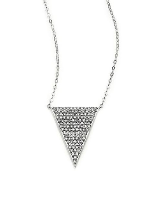 Pavé Triangle Pendant Necklace by Adriana Orsini in The Huntsman: Winter's War