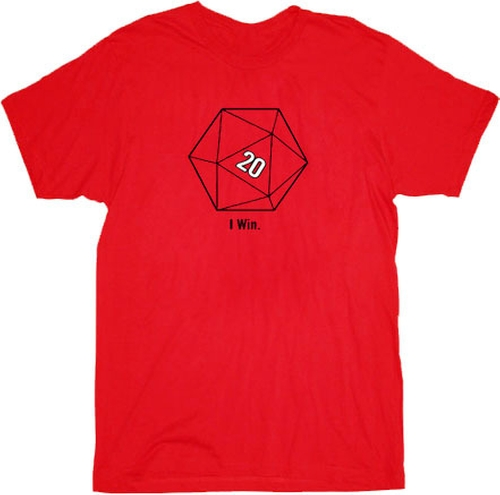 20 Sided Dice D20 Red T-Shirt by The Big Bang Theory in The Big Bang Theory - Season 9 Episode 2