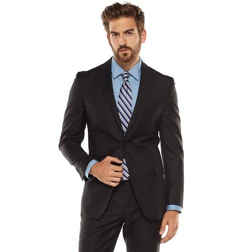 Slim-Fit Black Suit Jacket by Marc Anthony in Blackhat