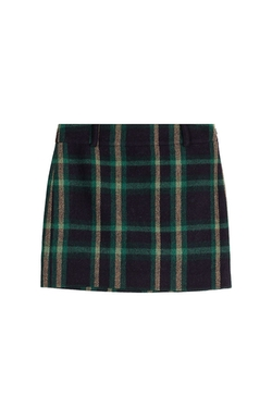 Wool-Alpaca Tartan Skirt by Polo Ralph Lauren in Supergirl