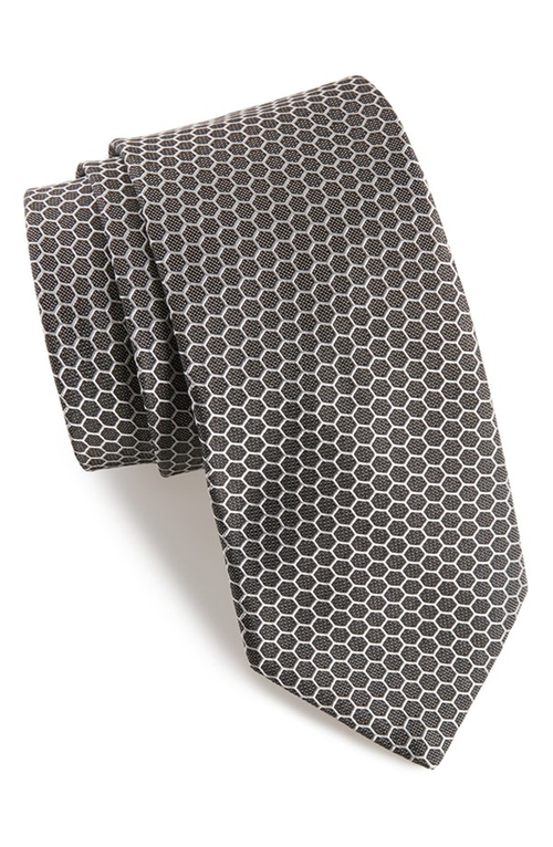 Hexagon Silk Tie by Ted Baker London in The Good Wife - Season 7 Episode 6
