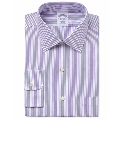 Men's Regent Classic-Fit Purple Striped Dress Shirt by Brooks Brothers  in Silicon Valley - Season 3 Episode 9