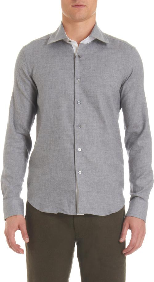 Light Chambray Spread Collar Shirt by RAKE in Jersey Boys
