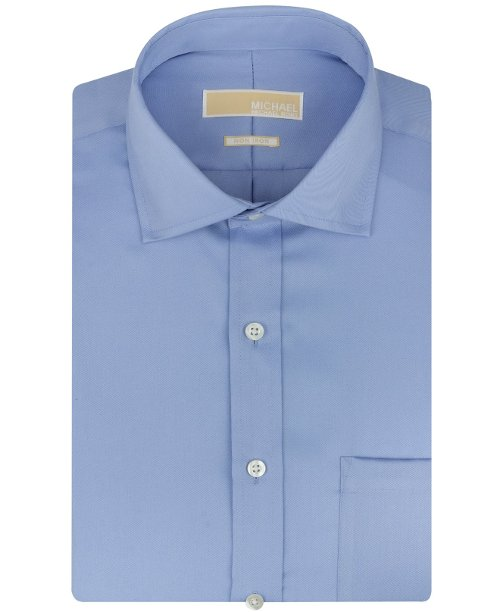 Non-Iron Twill Solid Dress Shirt by MICHAEL Michael Kors in Vice