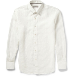Button-Down Collar Linen Shirt by Canali in The Great Gatsby