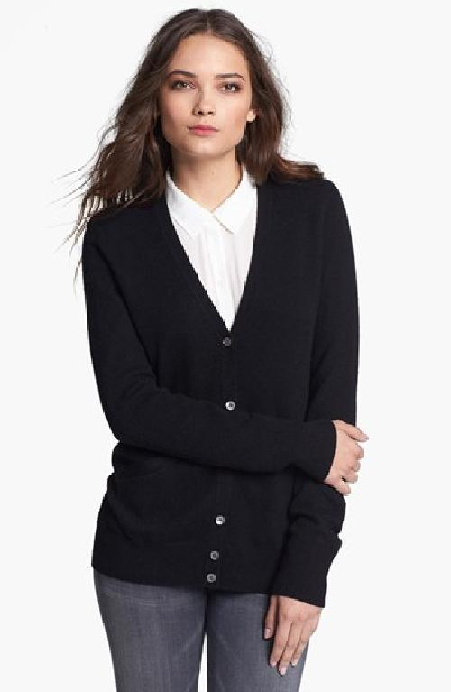 'Sullivan' Cashmere Cardigan by Equipment in Blended