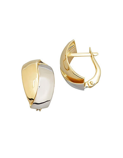 Yellow and White Gold Polished Hoop Earrings by Lord & Taylor in Mission: Impossible - Ghost Protocol