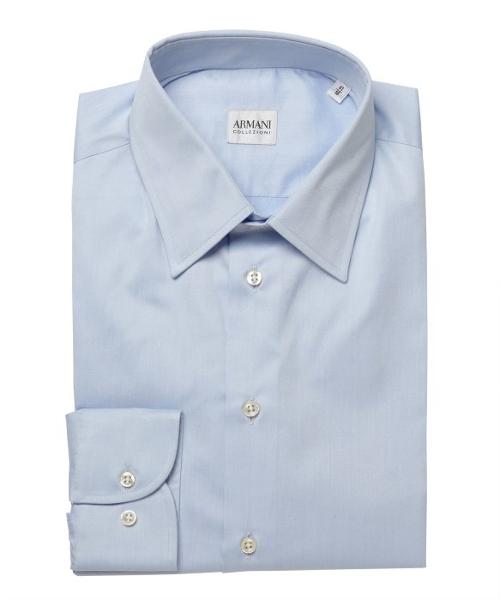 Cotton Spread Collar Dress Shirt by Armani Collezioni in Southpaw