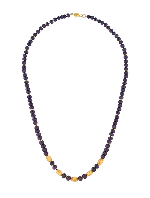 Purple Sapphire Bead Necklace by Fine Jewelry Necklace in The Second Best Exotic Marigold Hotel