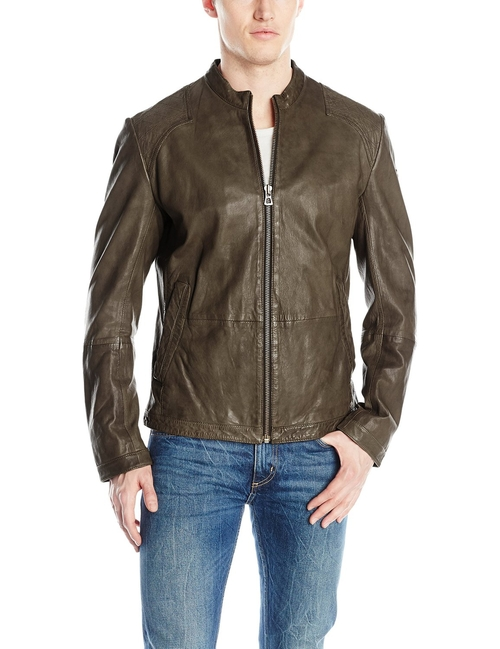 Sheep Leather Jacket by Boss Orange in Quantico - Season 1 Episode 5